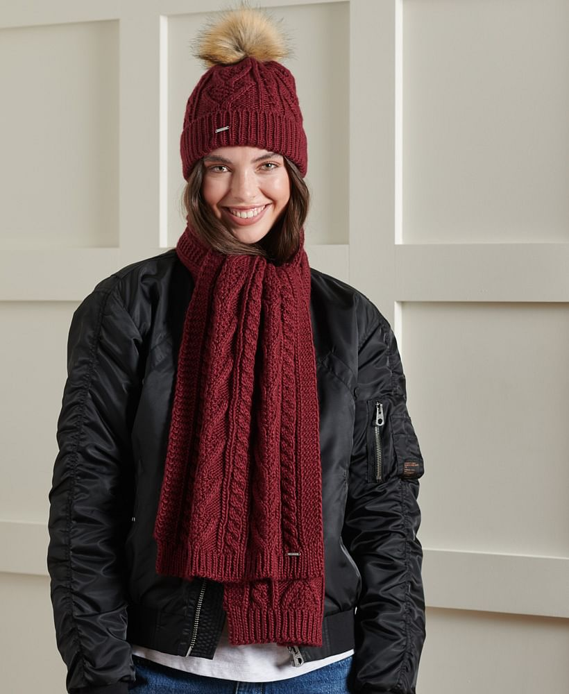LANNAH CABLE SCARF