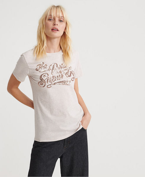 THE REAL SEQUIN ENTRY TEE