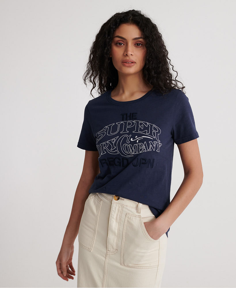 WORKWEAR CHAINSTCH EMB ENTRY TEE