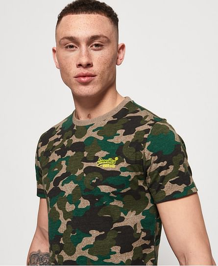 ORANGE LABEL VINTAGE EMBROIDERY CAMO TEE