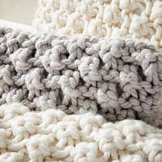 Bobble Knit Lumbar Pillow Cover