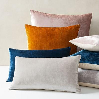 Lush Velvet Pillow Covers, Dusty Blush