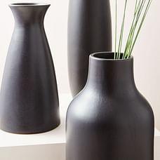 Pure Black Ceramic Vases