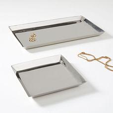 Foundations Metal Trays - Nickel