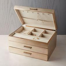 Mid-Century Jewelry Box - Grand (Champagne Lacquer)