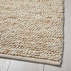 Mini Pebble Wool Jute Rug - Natural/Ivory