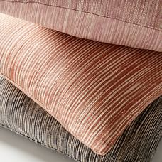Silk Ombre Striations Pillow Covers, Stone Gray