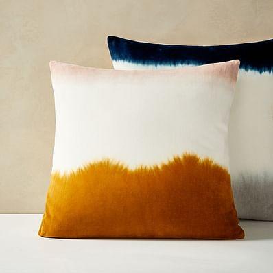 Dip Dye Pillow Cover, Rustic Orange