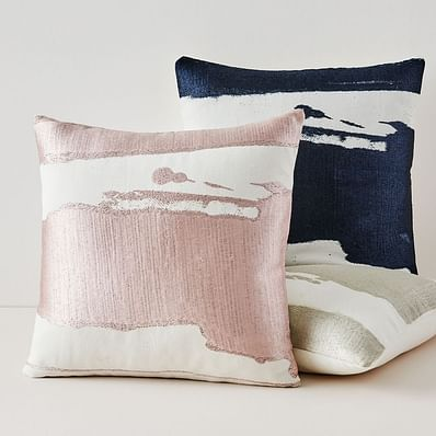 Ink Abstract Pillow Covers, Midnight