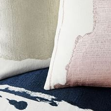 Ink Abstract Pillow Covers, Platinum