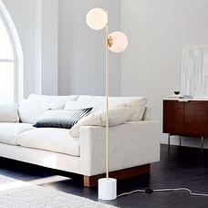 Sphere & Stem 2-Light Floor Lamp