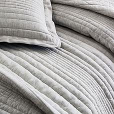 European Flax Linen Linework Quilt & Shams