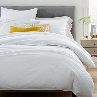 Organic Washed Cotton Duvet Cover & Shams