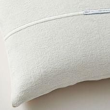 Accented Cotton Canvas Lumbar Pillow Cover