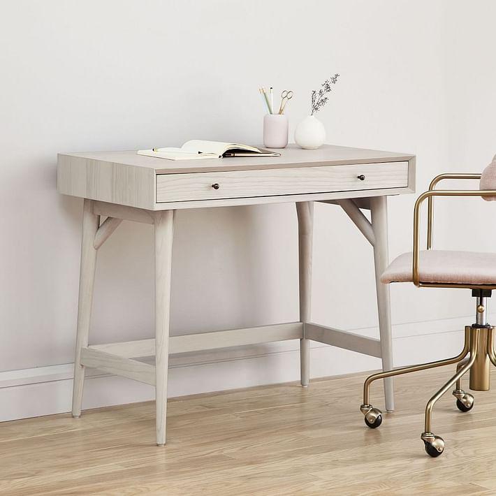 Mid-Century Mini Desk - Pebble