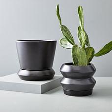 Totem Tabletop Planters - Black
