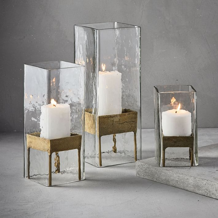 Tabla Glass & Brass Hurricanes
