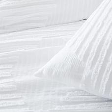 Organic Cotton Clipped Jacquard Diamond Duvet Cover & Shams