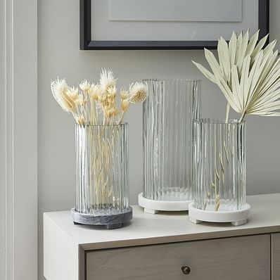 Marble & Fluted Glass Lanterns