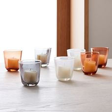 Colored Glass Votive Candles (Set of 5)