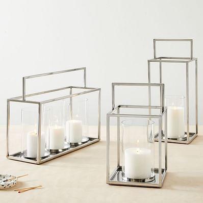 Framed Metal Lanterns - Nickel
