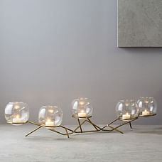 Brass + Glass Globe Centerpiece