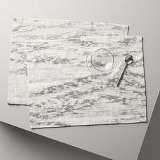 Bark Textured Jacquard Placemats (Set of 2)