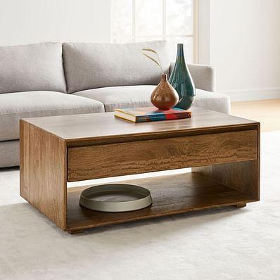 Anton Solid Wood Storage Coffee Table