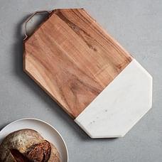 Marble + Wood Cutting Board, Large