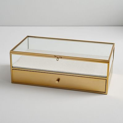 Terrace Shadow Box - Brass (Large Rectangle)