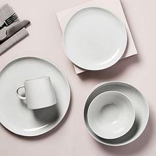 Richmond Stoneware Dinner Plate, Set of 4 - White