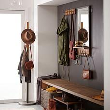 Industrial Wood + Metal Shoe Rack