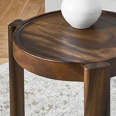 Wood Stacking Side Table