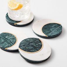 Marble Moon Coasters (Set of 4)