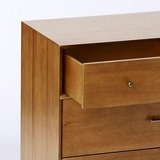 Mid-Century 3-Drawer Dresser, Acorn