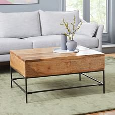 Industrial Storage Pop-Up Coffee Table