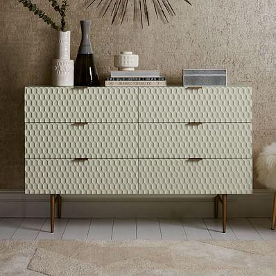 Audrey 6-Drawer Dresser, Parchment