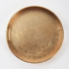 Lacquer Wood Trays - Round, Silver