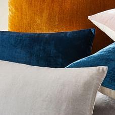 Lush Velvet Pillow Covers, Platinum