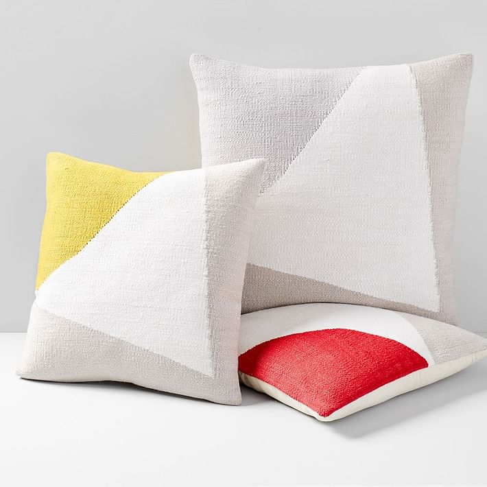 Amplified Arrow Pillow Cover, Frost Gray