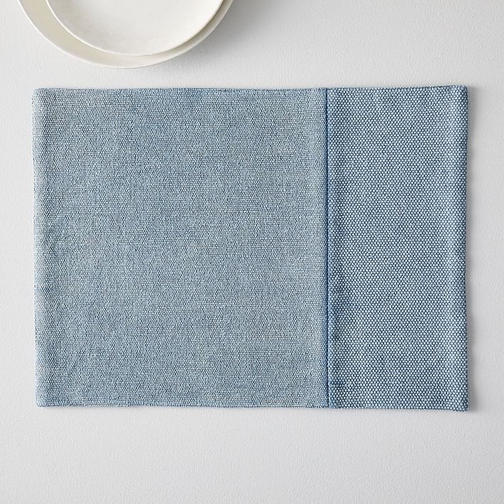 Cotton Canvas Placemats, Set of 2, Pink Stone