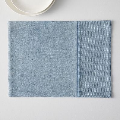 Cotton Canvas Placemats, Set of 2, Midnight