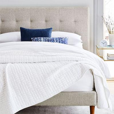 Cotton Jersey Cloud Blanket, Light Heather Gray