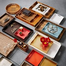 Lacquer Wood Trays - 18x28, Gold