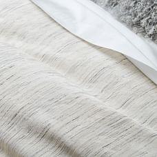 Washed Melange Jacquard Duvet Cover & Shams