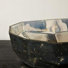 Basalt Mercury Glass Hurricane Mercury Large
