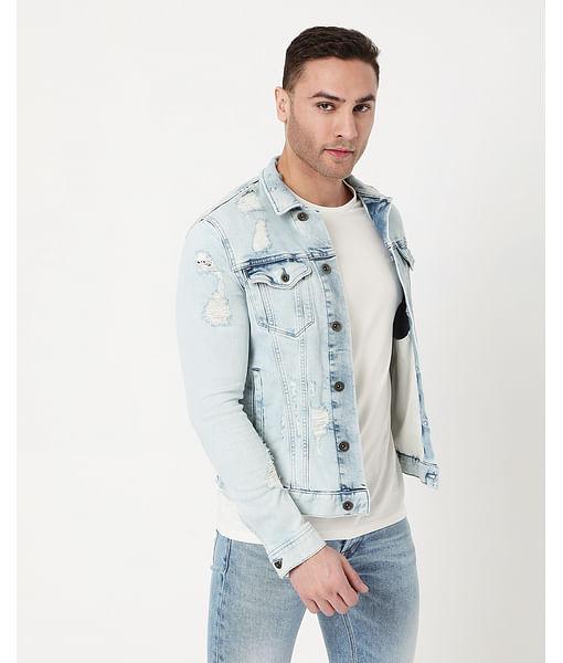 Men's Oklahoma Ec L In Collared Denim Jacket