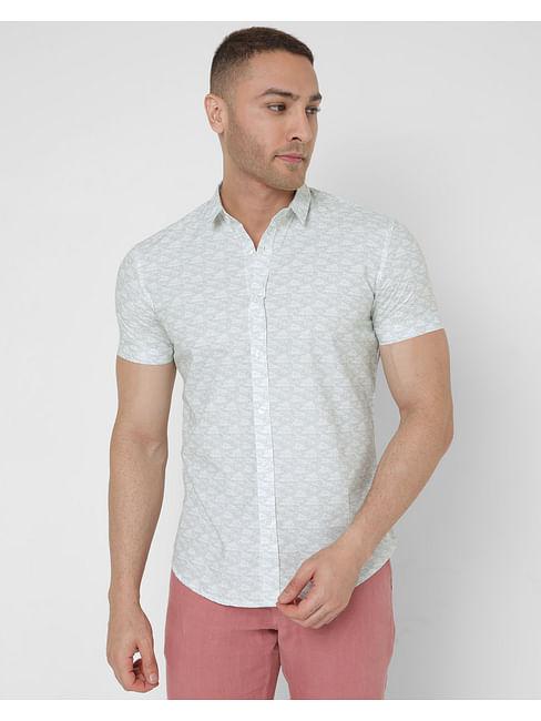 Men's Printed Manny Ec In Slim Fit Shirt