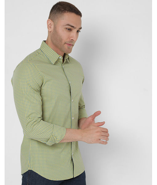 Men's Checkered Sir Det Ec In Slim Fit Shirt