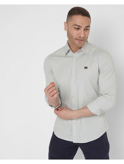 Men's Solid Andrew In Slim Fit Shirt